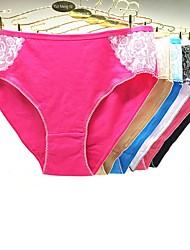cheap -Women's Print Sexy Shorties & Boyshorts Panties - Plus Size, Embroidered 3 Pieces Low Waist Rainbow XXL XXXL XXXXL