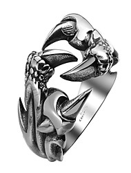cheap -Men's Band Ring Statement Ring wrap ring 1pc Black Steel Stainless Circle Metallic Vintage Gothic Halloween Street Jewelry Dragon Cool