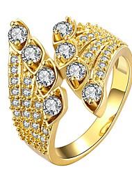 Недорогие -Жен. Кольцо Синтетический алмаз 1шт Золотой Розовое золото Позолота Геометрической формы Дамы Симпатичные Стиль Повседневные Свидание Бижутерия Cool