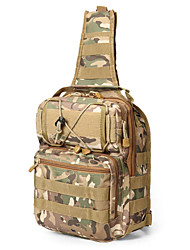 cheap -5 L Hiking Sling Backpack Military Tactical Backpack Multifunctional Quick Dry Wear Resistance Outdoor Hiking Cycling / Bike Camping Nylon Camouflage