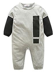 cheap -Baby Boys' Basic Daily Print Long Sleeve Romper Black / Toddler