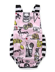 cheap -Baby Girls' Active / Basic Daily / Holiday Striped / Print Printing Sleeveless Bodysuit Blushing Pink / Toddler