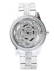 Недорогие -Жен. Эксклюзивные часы Нарядные часы Diamond Watch Японский Кварцевый Нержавеющая сталь Серебристый металл 50 m Секундомер Творчество Аналоговый Дамы Элегантный стиль - Золотой Серебряный