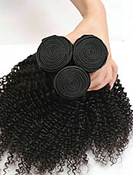 cheap -3 Bundles Indian Hair Kinky Curly Remy Human Hair 100% Remy Hair Weave Bundles 300 g Headpiece Extension Human Hair Extensions 8-28 inch Black Natural Color Natural Black Human Hair Weaves Soft / 8A