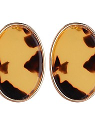 cheap -Women's Stud Earrings Chandelier Ladies Fashion Earrings Jewelry Yellow / Light Coffee For Daily Office & Career 1 Pair