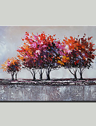 cheap -Mintura® Hand Painted Abstract Trees Oil Painting on Canvas Modern Wall Art Picture for Home Decoration Ready To Hang