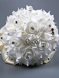 abordables -Fleurs de mariage Bouquets Mariage Comme Soie Satin / Perlé / Mousse 11-20 cm