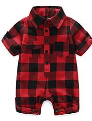 cheap -Baby Boys' Basic Print Short Sleeves Romper Red