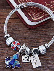 cheap -Women's Charm Bracelet Layered Fish European Fashion Cute Alloy Bracelet Jewelry Red / Blue For Party