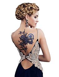 cheap -3 pcs Tattoo Stickers Temporary Tattoos Flower Series Body Arts Shoulder