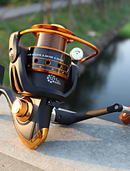 cheap -Fishing Reel Spinning Reel 5.2:1 Gear Ratio+12 Ball Bearings Hand Orientation Exchangable Sea Fishing / Bait Casting