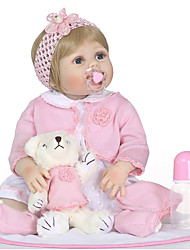 cheap -NPKCOLLECTION 24 inch NPK DOLL Reborn Doll Girl Doll Baby Girl Reborn Toddler Doll Newborn Gift Child Safe Non Toxic Artificial Implantation Blue Eyes Full Body Silicone with Clothes and Accessories
