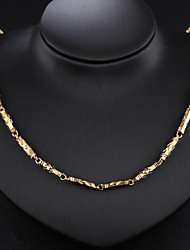 cheap -Men's Chain Necklace Baht Chain Fashion Dubai 18K Gold Plated Gold Plated Gold 51 cm Necklace Jewelry 1pc For Party / Evening Daily