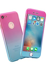 Недорогие -Кейс для Назначение Apple iPhone X / iPhone 8 Pluss / iPhone 8 Матовое Чехол Мрамор / Градиент цвета Твердый ПК