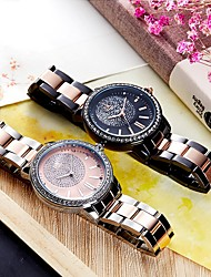 cheap -SK Women's Wrist Watch Japanese Japanese Quartz Black / Silver 30 m Water Resistant / Waterproof Shock Resistant Analog Classic Fashion - Rose Gold / White Black / Rose Gold Two Years Battery Life