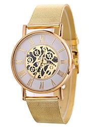 cheap -Xu™ Women's Dress Watch Wrist Watch Gold Watch Quartz Black / Silver / Gold Creative Casual Watch Large Dial Analog Ladies Fashion Skeleton - Gold Black Silver One Year Battery Life