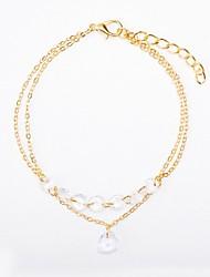 cheap -Women's Crystal Chain Bracelet Long Ladies Sweet Fashion Alloy Bracelet Jewelry Gold For School Date
