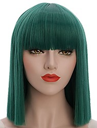 cheap -Synthetic Wig Straight Bob Pixie Cut Wig Short fluorescent green Synthetic Hair Women's Party Classic Green