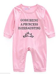 cheap -Baby Girls' Basic Daily Print Printing Long Sleeve Cotton Romper Blushing Pink