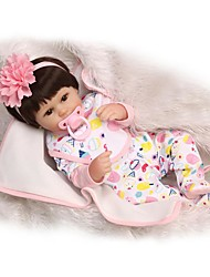 cheap -NPKCOLLECTION NPK DOLL Reborn Doll Girl Doll Baby Girl 18 inch Silicone - Newborn Gift Child Safe Non Toxic Tipped and Sealed Nails Natural Skin Tone Kid's Girls' Toy Gift