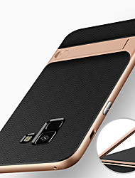 cheap -Case For Samsung Galaxy A8 2018 / A8+ 2018 Shockproof / with Stand Back Cover Armor Hard PC