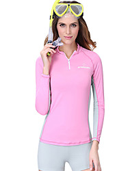 cheap -Dive&Sail Women's Rash Guard Spandex SPF50 UV Sun Protection Breathable Long Sleeve Diving Classic Spring Summer / Anatomic Design / Stretchy / Quick Dry