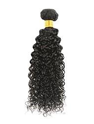 Недорогие -1 комплект Бразильские волосы Афро Kinky Curly Не подвергавшиеся окрашиванию 100 g Человека ткет Волосы Накладки из натуральных волос 8-28 дюймовый Естественный цвет Ткет человеческих волос
