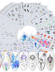 cheap -40 pcs Full Nail Stickers nail art Manicure Pedicure Creative Nail Decals Daily Wear / Festival