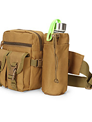 cheap -8 L Fanny Pack Hiking Waist Bag Military Tactical Backpack Multifunctional Quick Dry Wear Resistance Outdoor Hiking Camping Nylon Khaki