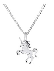 cheap -Women's Pendant Necklace Horse Unicorn Ladies Classic Vintage Fashion Alloy Gold Silver 40 cm Necklace Jewelry 1pc For Daily Office & Career