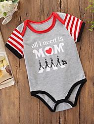 cheap -Baby Boys' Active / Basic Daily / Holiday Print Printing Short Sleeves Romper Light gray / Toddler