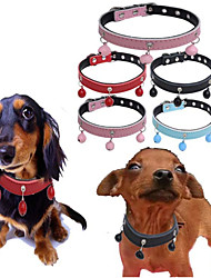 cheap -Dogs Cats Pets Collar Dog Training Collars Necklace Portable Mini Trainer Solid Colored Genuine Leather Red Blue Pink Husky Labrador Alaskan Malamute Golden Retriever Dalmatian Border Collie