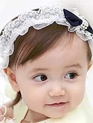 cheap -Kids Girls' Sweet Daily Blue & White Bowknot Bow Rayon Hair Accessories Blue One-Size / Headbands