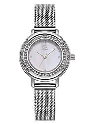 Недорогие -SK Жен. Наручные часы Diamond Watch Японский Японский кварц Серебристый металл 30 m Защита от влаги Ударопрочный Аналоговый Дамы Мода - Серебряный Два года Срок службы батареи