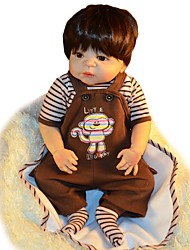cheap -FeelWind Reborn Doll Baby Boy 22 inch Full Body Silicone - lifelike Hand Made Child Safe Non Toxic Parent-Child Interaction Hand Rooted Mohair Kid's Boys' / Girls' Toy Gift