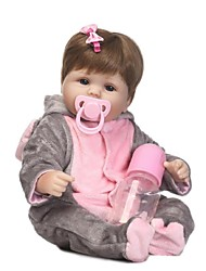 cheap -NPKCOLLECTION NPK DOLL Reborn Doll Baby 18 inch Silicone - Newborn lifelike Child Safe Non Toxic Artificial Implantation Blue Eyes Tipped and Sealed Nails Kid's Girls' Toy Gift