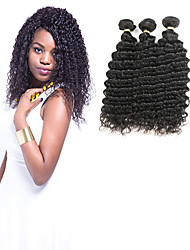 cheap -3 Bundles Indian Hair Wavy 100% Remy Hair Weave Bundles Human Hair Extensions 8-30 inch Natural Black Human Hair Weaves Lustrous New Design 100% Virgin Human Hair Extensions / 10A