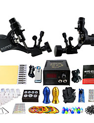 cheap -Tattoo Machine Professional Tattoo Kit - 2 pcs Tattoo Machines, Professional Mini power supply Case Not Included 2 rotary machine liner & shader / 2 alloy machine liner & shader