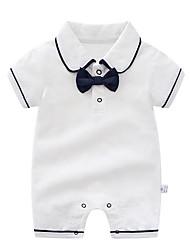 cheap -Baby Boys' Basic Print Short Sleeves Cotton Romper Blushing Pink / Toddler