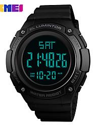 Недорогие -SKMEI Муж. Спортивные часы электронные часы Цифровой силиконовый Черный 30 m Защита от влаги Календарь Фосфоресцирующий Цифровой На каждый день Мода - Серый Зеленый Синий Один год Срок службы батареи