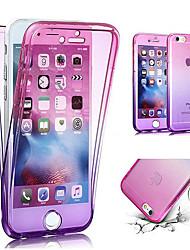 Недорогие -Кейс для Назначение Apple iPhone X / iPhone 8 Pluss / iPhone 8 Полупрозрачный Чехол Градиент цвета Мягкий ТПУ