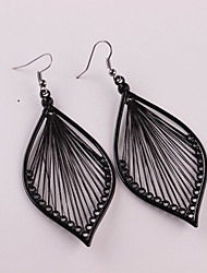 cheap -Women's Drop Earrings Long Leaf Ladies Stylish Classic Earrings Jewelry Black For Daily 1 Pair