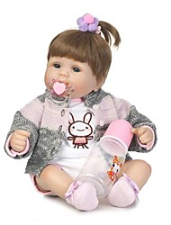 Недорогие -NPKCOLLECTION NPK DOLL Куклы реборн Кукла для девочек Девочки 18 дюймовый Винил - Новорожденный как живой Искусственные имплантации Голубые глаза Детские Девочки Игрушки Подарок