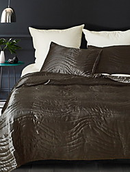 cheap -Duvet Cover Sets Solid Colored Polyster Reactive Print 3 PieceBedding Sets