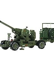 abordables -1:18 Petites Voiture Militaire Chariot Camion de transporteur Camion Véhicule Militaire Vue de la ville Cool Exquis Métal Tous Garçon Fille 2 pcs