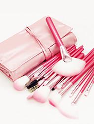 abordables -Professionnel Pinceaux à maquillage ensembles de brosses 22pcs Economique Professionnel Doux Couvrant Confortable Pinceau en Fibres Synthétiques Bois / bambou pour