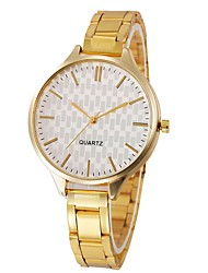 cheap -Couple's Wrist Watch Quartz Stainless Steel Silver / Gold Chronograph Casual Watch Lovely Analog Classic Bangle Elegant - Gold Silver One Year Battery Life