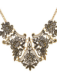 cheap -Women's Collar Necklace Thick Chain Ladies Vintage European Alloy Gold Silver 45+8.5 cm Necklace Jewelry 1pc For Evening Party
