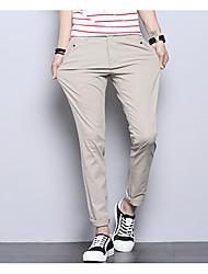 abordables -Homme Basique Grandes Tailles Quotidien Mince Chino Pantalon - Couleur Pleine Eté Vert Claire Kaki Gris Clair 34 36 38