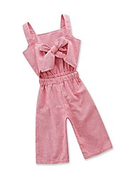cheap -Baby Girls' Active / Basic Daily / Going out Solid Colored Pure Color Sleeveless Overall & Jumpsuit Blushing Pink / Toddler